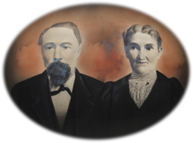 William and Margaret McClelland - founders - historic portrait - McClellands Beach - Spirit Lake - Iowa - 51360